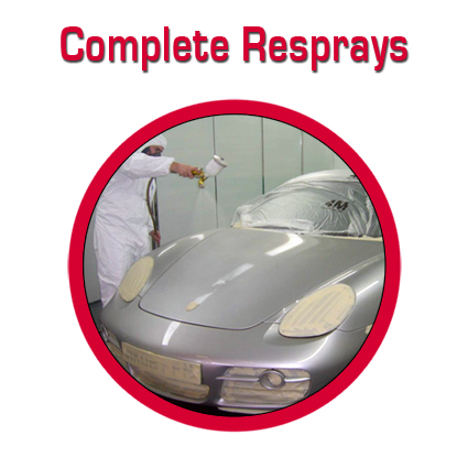 Complete car, bike and van resprays